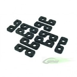 Carbon Fiber SERVO SPACER (10pcs) - Goblin 500/570/630/700/770