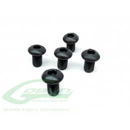 DIN 12.9 Button Head Socket Cap M6x10 (5pcs) - Goblin 500/570/Speed