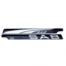PALES SAB Black Line Carbon Fiber Main Blades 690mm