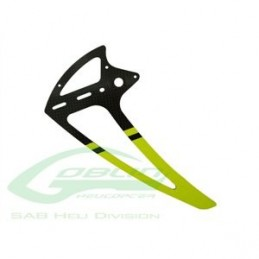 Carbon Fiber Tail Fin Yellow - Goblin 500