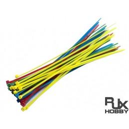 HA0709 - RILSAN RJX Cable Binder ( Mix Color) 2.5 x100mm x 40pcs