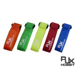 T6011-XS - VELCRO Multi Color Battery Strap (200x20mmx5pcs) for FPV Racing