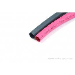 GAINE THERMORECTRACTABLE 6.4mm ROUGE + NOIR (10 PCS)  - GF-1460-004