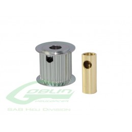 Aluminum Motor Pulley 24T (for 6/8mm motor shaft) - Goblin 770/Goblin 700 Compet