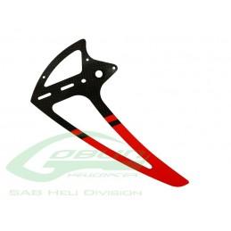 Carbon Fiber Vertical Fin Red - Goblin 500