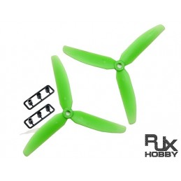 HELICE RJX ABS 5030 Three Props Propeller CW&CCW (Green)