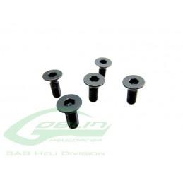 HC132-S - DIN 12.9 Flat Head Socket Cap M3x5 - Goblin 500/570