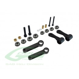 H0132BM-S - Radius Arm Set Black Matte - Goblin BLACK NITRO/ BLACK THUNDER