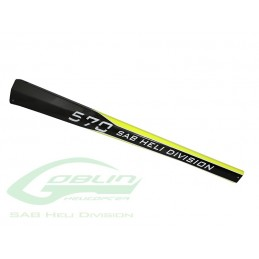 H9043-S - TAIL BOOM GOBLIN 570 YELLOW CARBON - GOBLIN 570 KSE