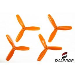 T5045BNV2O - Hélices DALPROP 5045 tripale Bullnose V2 (2CW et 2 CCW) ORANGE