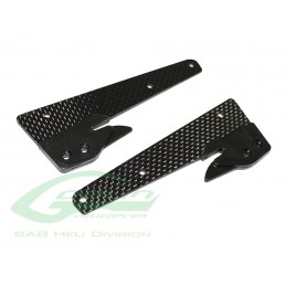 H0694-S - Carbon Fiber Front Landing Gear Support - Goblin Black Thunder