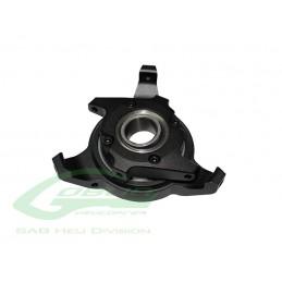H0422BM-S - SwashPlate Set Black Matte - Goblin Black Nitro/Black Thunder