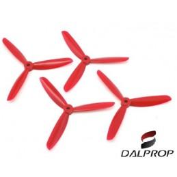 TJ5045R - Hélices DALPROP 5045 tripale (5x4.5x3) (2CW et 2 CCW) ROUGE