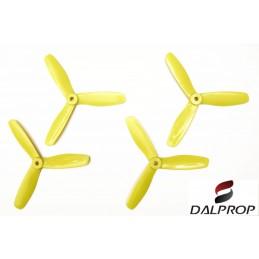 T5045BNV2BJ - Hélices DALPROP 5045 tripale Bullnose V2 (2CW et 2 CCW) JAUNE