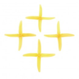 Q5040CJ - Hélices DALPROP 5040 quadri-pales CRYSTAL COLOR - JAUNE (4 pcs)