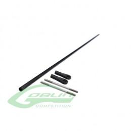 HC451-S - Carbon Fiber tail push rod diam.4 x diam.2,5 x 854 (Urukay) - 89352366