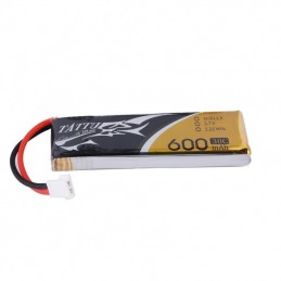 TA-30C-600-1S1P1-MOLE - Tattu 600mAh 3.7V 30C 1S1P Lipo Battery Pack JST Plug 1pc