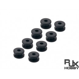 RJX1860 - RJX Anti Vibration Rubber Balls 4x9.5x6.4mmx8pcs