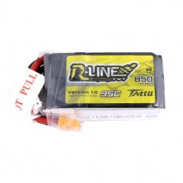 TA-RL-95C-850-4S1P-XT60 - Tattu R-Line 850mAh 95C 4S1P lipo battery