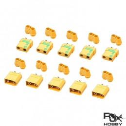 XT90 Connector Yellow - Male and Female x 5 paires