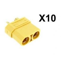 Lot de 10 connecteurs XT90 femelle