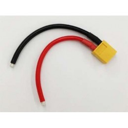 CABLE XT60 MALE - 10 CM 14AWG