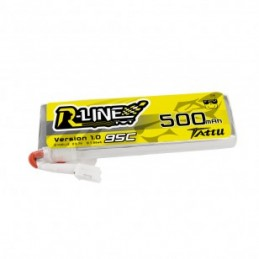 TA-RL-95C-500-1S1P-L - Gens ace 3500mAh 3.7V TX 1S1P Lipo Battery Pack with JR Plug