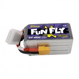 TA-FF-100C-1300-6S1P - TATTU BATTERIE LIPO Funfly Series 1300mAh 22.2V 100C 6S1P