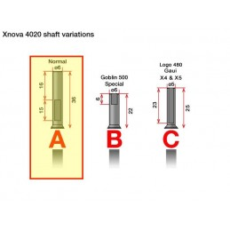 X-NOVA AXE MOTEUR 4020  TYPE A (SHAFT)